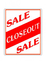 Closeout Sale Sign