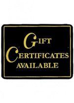 Gift Certificate Available Sign