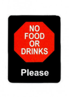 No Food Or Drinks Please