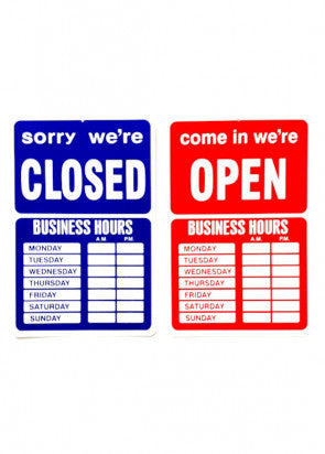 Open Closed Hours
