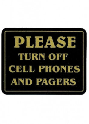 Please Turn Off Cell Phones