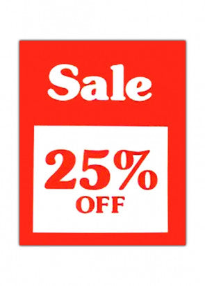 25% OFF Sign
