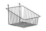 Sloped Gridwall & Slatwall Basket