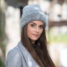 Load image into Gallery viewer, Rabbit fur Beanie Hat for Women Winter
