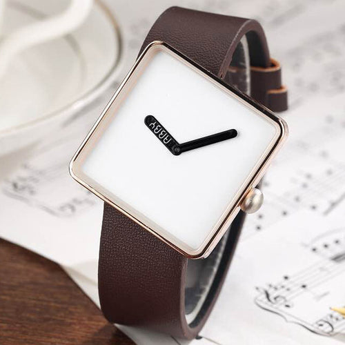 Unique Minimalist Square Wristwatch