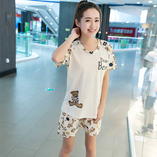Milk Silk Pajamas Suit
