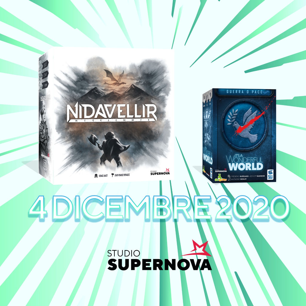 4 Dicembre: Arrivano Nidavellir e It's a Wonderful World: Guerra o Pace!