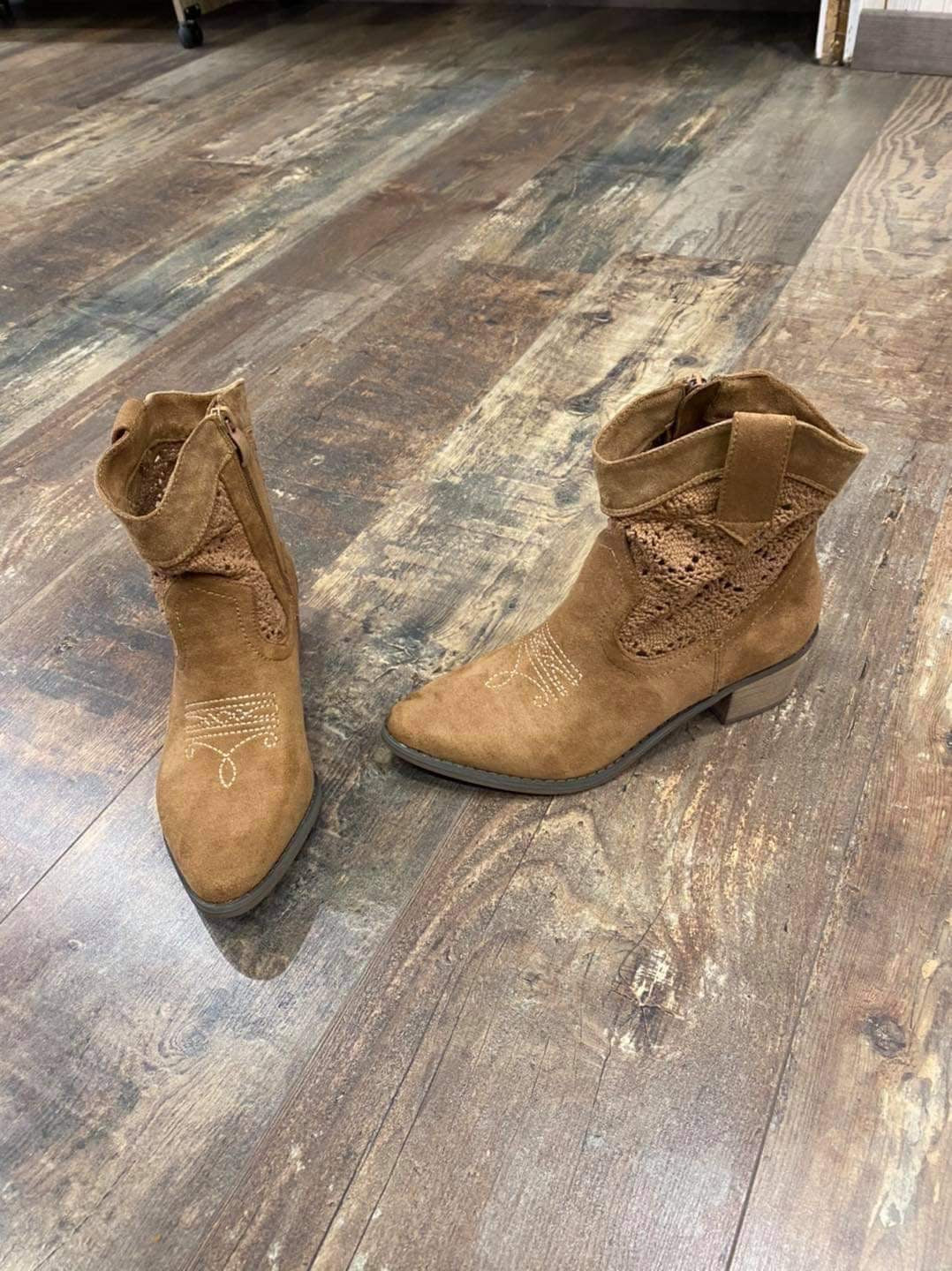 Bottines camel