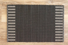 Load image into Gallery viewer, Kalum Black Striped Placemat - Set of 2