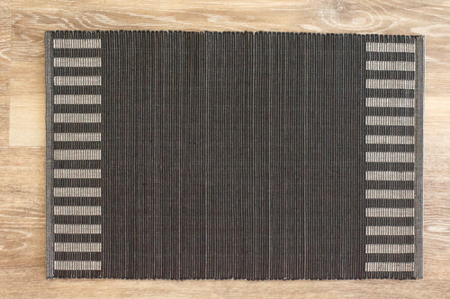 Kalum Black Striped Placemat - Set of 2
