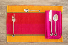 Load image into Gallery viewer, Mirissa Chilie Stripe Placemats - Set of 2