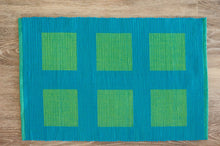 Load image into Gallery viewer, Triton Blue and Green Placemats - Set of 2