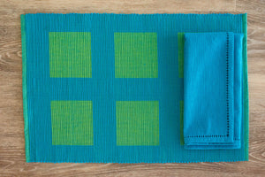 Triton Blue and Green Placemats - Set of 2