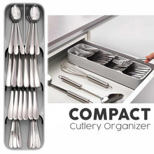 Load image into Gallery viewer, Compact Cutlery Organizer