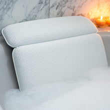 Load image into Gallery viewer, Non-Slip Extra Soft Luxury Spa Bath Pillow With Powerful Suction Cups