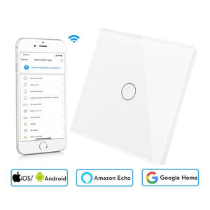 Wifi Smart Wall Touch Switch Glass Panel Mobile APP Remote Control No Hub Required work with Amazon Alexa Google Home US EU UK