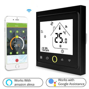 WiFi Thermostat Temperature Controller for Water/Electric floor Heating Water/Gas Boiler Works with Alexa Google Home 3A 16A