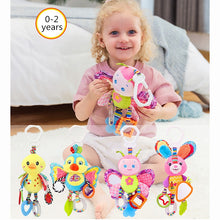 Load image into Gallery viewer, Baby Rattles Toys Stroller Hanging Soft Toy Cute Animal Doll Baby Crib Bed Hanging Bells Toys Elephant Rabbit Dog