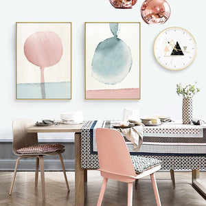 Abstract Geometric Art Canvas Painting