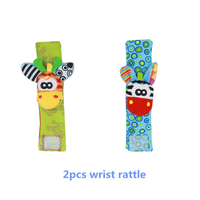 Infant Baby Kids Socks Rattle Toys Wrist Rattle Foot Socks For 0~24 Months