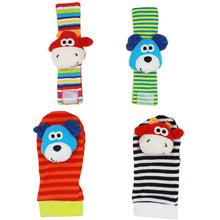 Load image into Gallery viewer, Infant Baby Kids Socks Rattle Toys Wrist Rattle Foot Socks For 0~24 Months