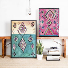Load image into Gallery viewer, Moroccan Rug Art Prints Boho Canvas Painting