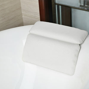 Non-Slip Extra Soft Luxury Spa Bath Pillow With Powerful Suction Cups
