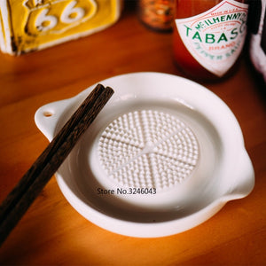 Ceramic Ginger Garlic Wasabi Grater Crushed Garlic Press Device