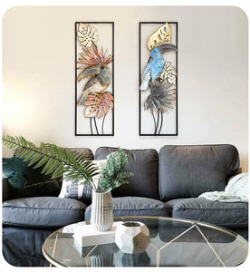 Flower Bird Shape Wall Mural Decoration