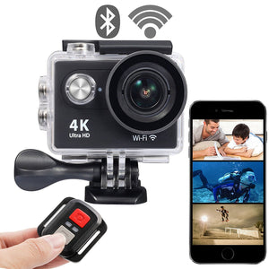 4K Ultra HD Action Camera with Wifi Ready (Waterproof)