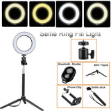 SELFIE RING LIGHT + TRIPOD STAND/CELLPHONE HOLDER