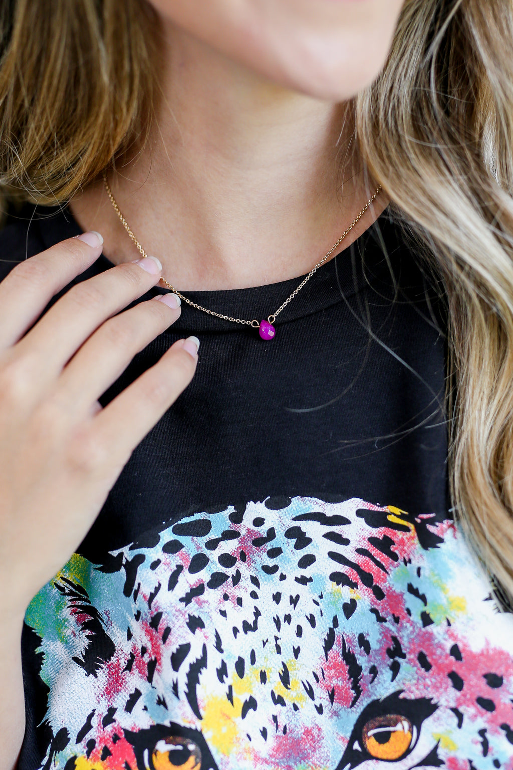 Sassy Expression Necklace In Fuchsia
