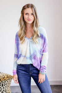 Galaxy Babe Knit Tie-Dye Sweater