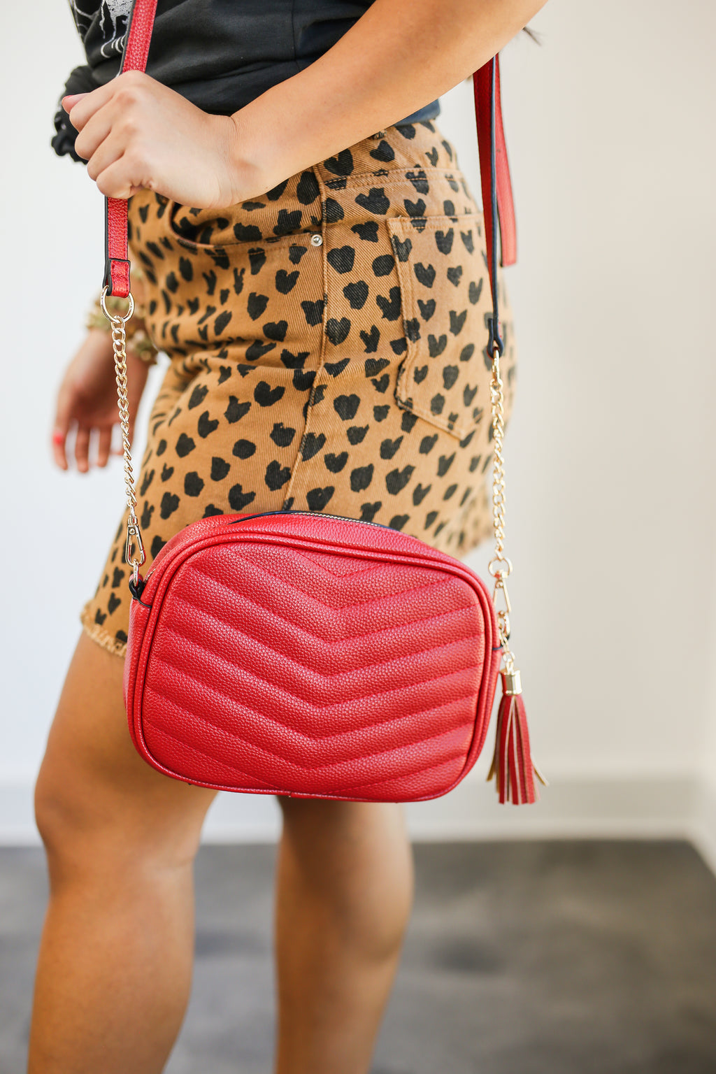 Get IT Girl Crossbody In Red