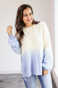 Cozy Chic Ombre Fuzzy Sweater