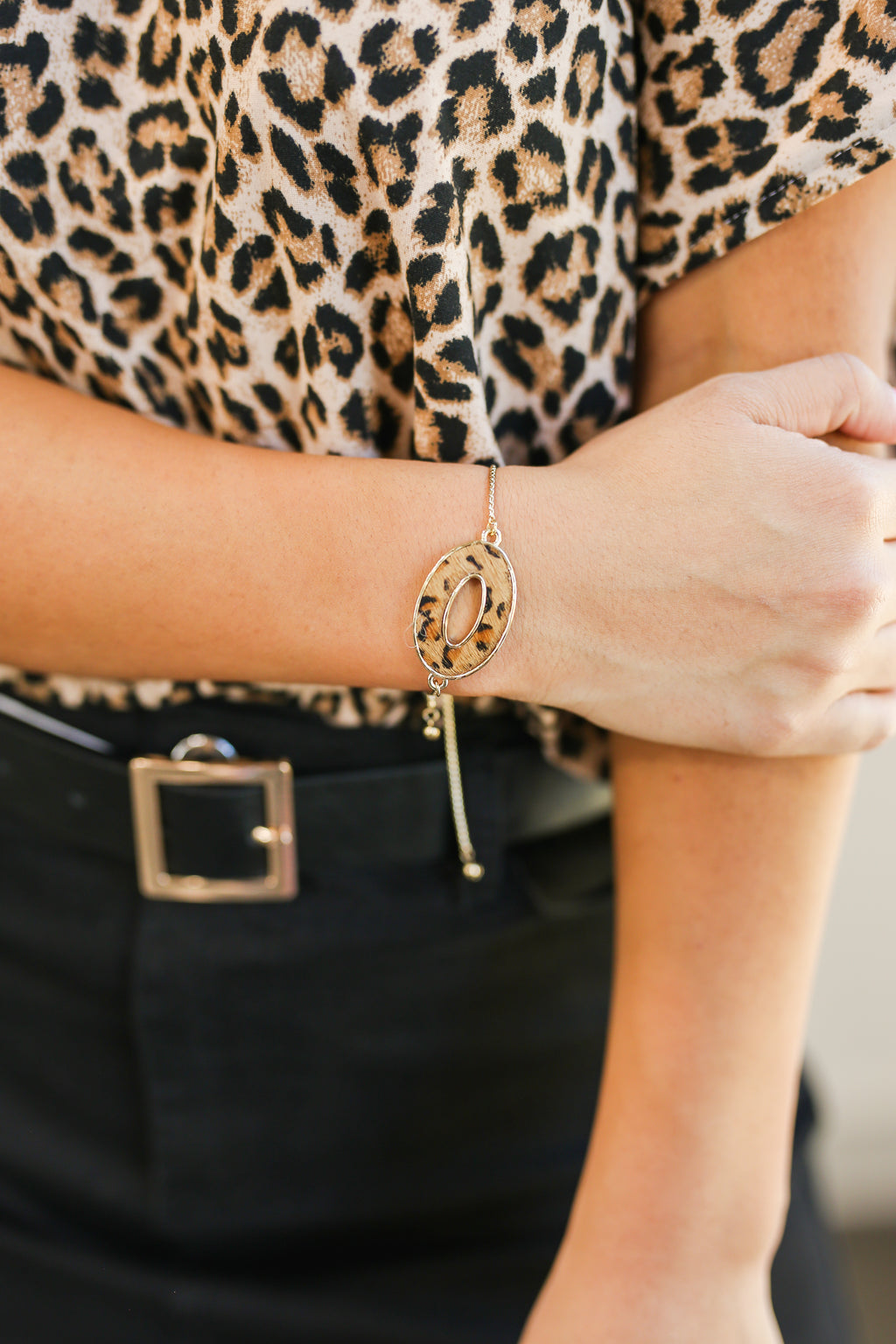 Final Touch Leopard Ring Bracelet