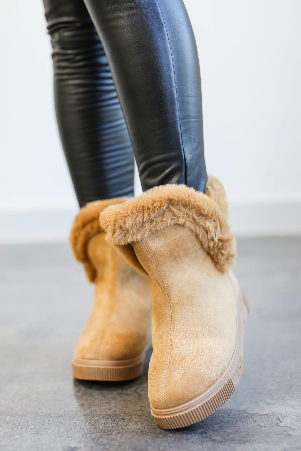 The Alex Faux Fur Boot In Camel