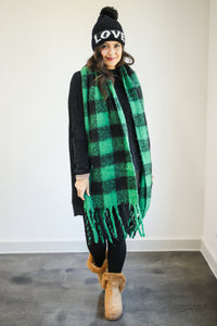 Warm Welcome Scarf In Green