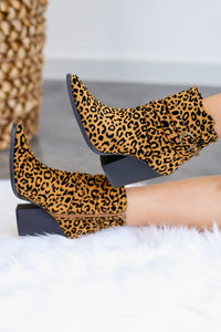 The Cameron Leopard Booties