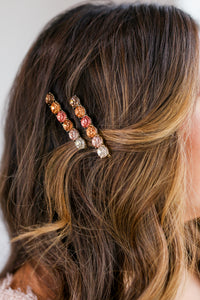 Vacay Crave Hair Clips In Multi Rose Gold
