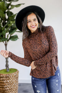 Aspens Calling Leopard Shift Top