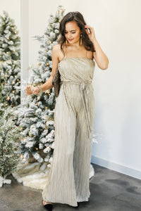 Making An Entrance Jumpsuit In Champagne