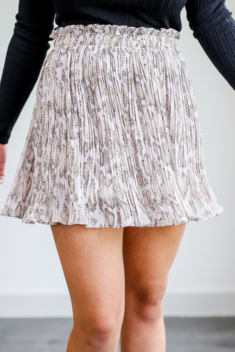 Star-Struck Snake Skort In Soft Blush