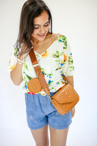 Hooked On Floral Tee in White