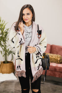 Jetting To Paris Fringe Cardigan