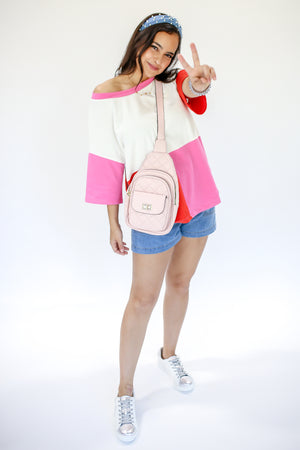 Pink, Please Color Block Tee