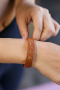Saved By Grace Bracelet In Tan