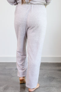 Cozy Daze Joggers In Heather Grey