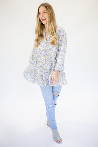 Counting Blessings Floral Shift Top