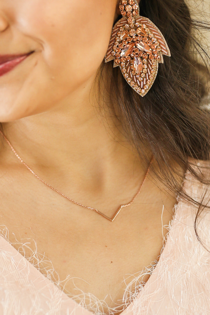 New Style Necklace In Rose Gold
